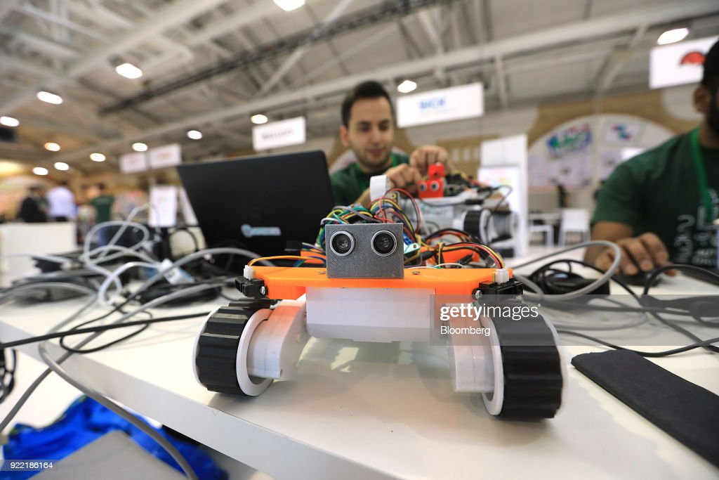 A model autonomous vehicle stands on a desk in the Hackathon area at the Bosch Internet of Things (IoT) conference, in Berlin, Germany, on Wednesday, Feb. 21, 2018. Bosch raked in record profit and revenue last year and foresees more growth in 2018 even as the German auto-parts giant wrestles with weakness in the scandal-beset diesel segment that might be compounded by controversial air-quality tests on monkeys. Photographer: Krisztian Bocsi/Bloomberg via Getty Images
