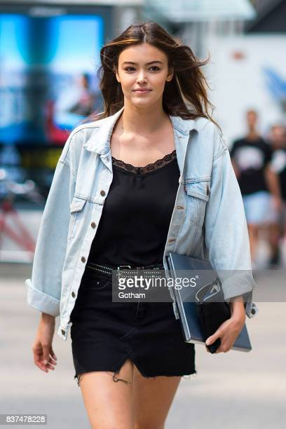 Model Ava Adams attends call backs for the 2017 Victoria's Secret Fashion Show in Midtown on August 22 2017 in New York City