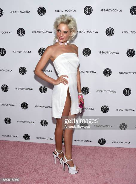 Model Ava Capra attends the 5th Annual Beautycon Festival Los Angeles at the Los Angeles Convention Center on August 12 2017 in Los Angeles California