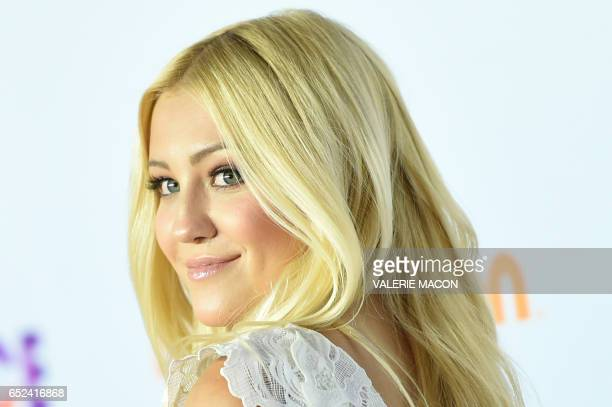 Model Ava Sambora arrives for the 30th Annual Nickelodeon Kids' Choice Awards March 11 at the Galen Center on the University of Southern California...
