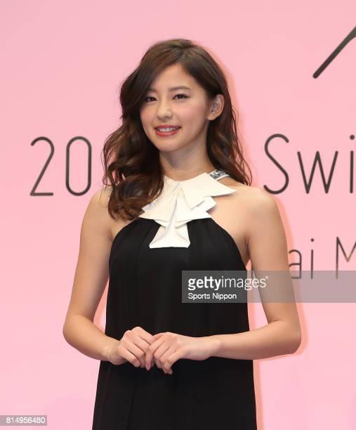 Model Aya Asahina attends the 2016 Sanai swimwear PR event on November 4 2015 in Tokyo Japan