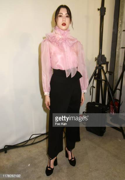 Model Ayaka Miyoshi attends the Shiatzy Chen Womenswear Spring/Summer 2020 show as part of Paris Fashion Week on September 30 2019 in Paris France