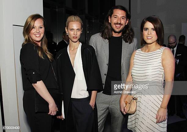 Model Aymeline Valade and Princess Eugenie of York attend the IWC Schaffhausen Third Annual 'For the Love of Cinema' Gala during the Tribeca Film...