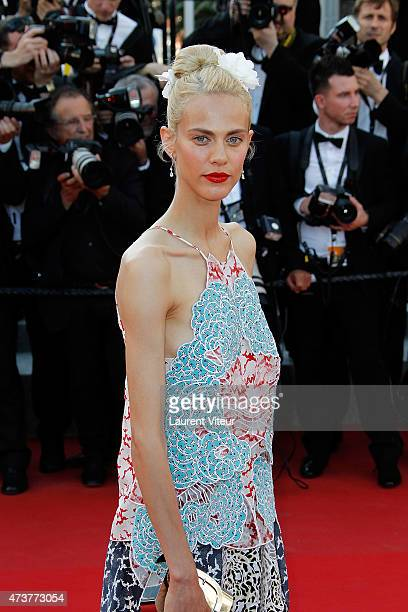 Model Aymeline Valade attends the 'Carol' premiere during the 68th annual Cannes Film Festival on May 17 2015 in Cannes France