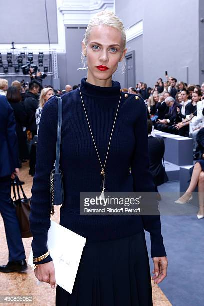 Model Aymeline Valade attends the Chloe show as part of the Paris Fashion Week Womenswear Spring/Summer 2016 Held at Grand Palais on October 1 2015...