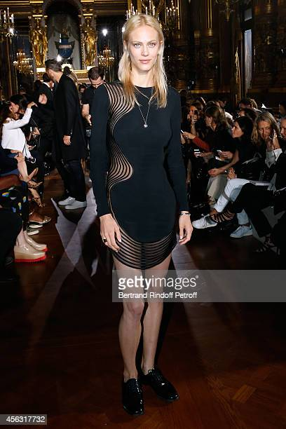 Model Aymeline Valade attends the Stella McCartney show as part of the Paris Fashion Week Womenswear Spring/Summer 2015 on September 29 2014 in Paris...