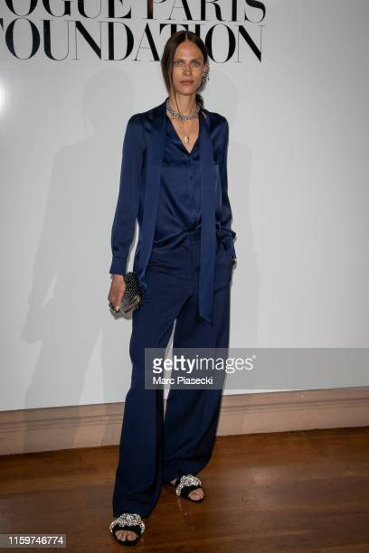 Model Aymeline Valade attends the Vogue diner as part of Paris Fashion Week Haute Couture Fall Winter 2020 at Le Trianon on July 02 2019 in Paris...