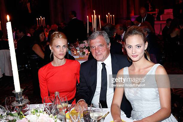 Model Aymeline Valade Sidney Toledano and Actress Nora Arnezeder attend the Grand Bal de Deauville For Care France Association in Casino Barriere de...