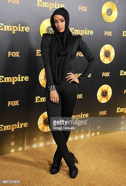 Model AzMarie Livingston arrives at the red carpet premiere of Empire at ArcLight Cinemas Cinerama Dome on January 6 2015 in Hollywood California