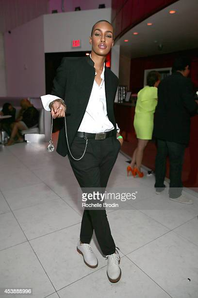 Model AzMarie Livingston attends America's Next Top Model Cycle 21 premiere party presented by NYLON and LINE at SupperClub Los Angeles on August 20...