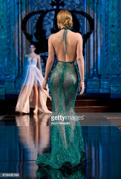 A model back detail walks the runway wearing WILLFREDO GERARDO at New York Fashion Week Powered by Art Hearts Fashion NYFW at The Angel Orensanz...