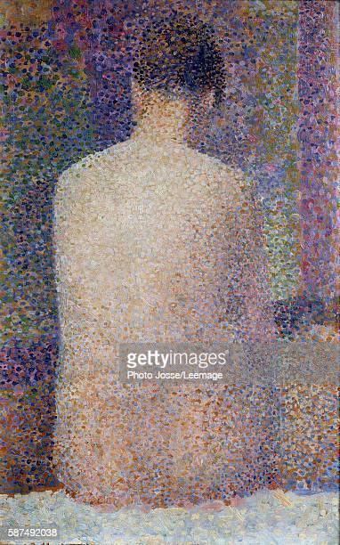 Model Back View Painting by Georges Seurat 1887 024 x 155 m Orsay Museum Paris