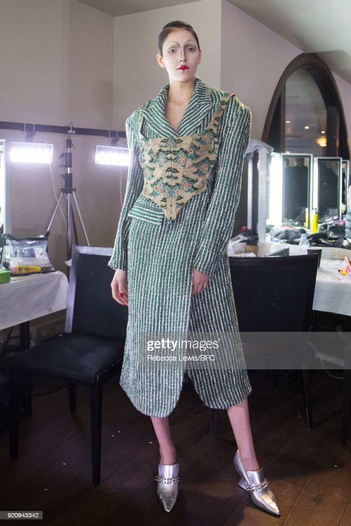 Dilara Findikoglu Presentation - Backstage - LFW February 2018