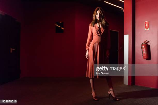 A model backstage ahead of the Exquise presentation during Mercedes Benz Fashion Week Istanbul at Zorlu Performance Hall on March 29 2018 in Istanbul...