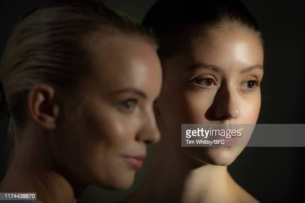 A model backstage ahead of the Gayeon Lee show during London Fashion Week September 2019 at Foyles on September 13 2019 in London England