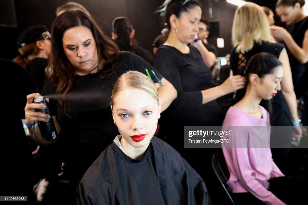 GBR: Marta Jakubowski - Backstage - LFW February 2019