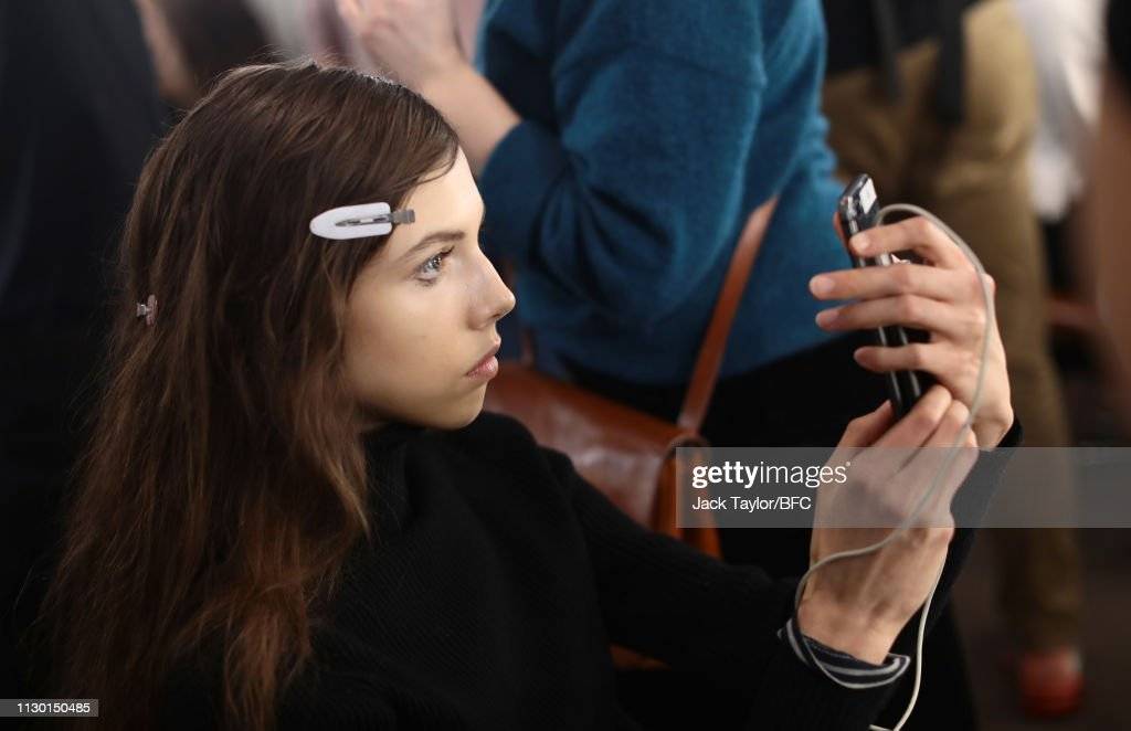 GBR: Mary Katrantzou - Backstage - LFW February 2019