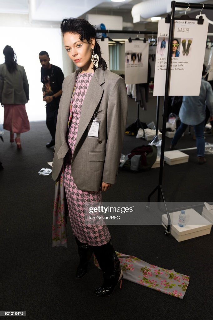 Natasha Zinko - Backstage - LFW February 2018