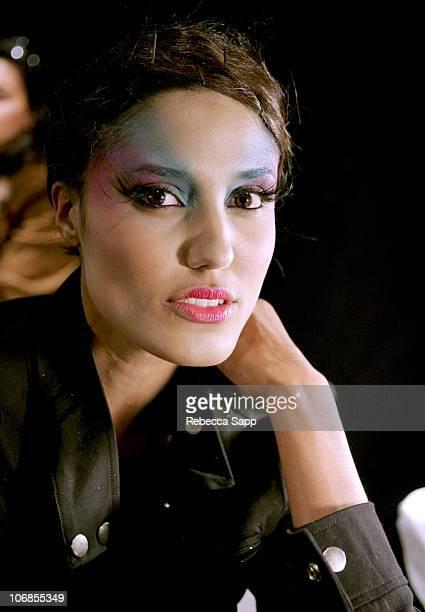 Model backstage at Cesar de la Parra Fall 2005 during MercedesBenz Fall 2005 Fashion Week at Smashbox Studios Cesar de la Parra Backstage at Smashbox...