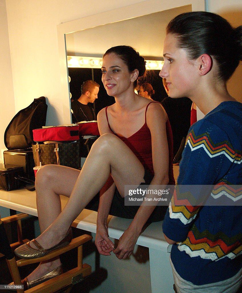 Model backstage at Morphine Generation during Morphine Generation Spring 2006 Fashion Show with Suicide Club Live Performance - October 22, 2005 at Miauhaus Studio in Hollywood, California, United States.
