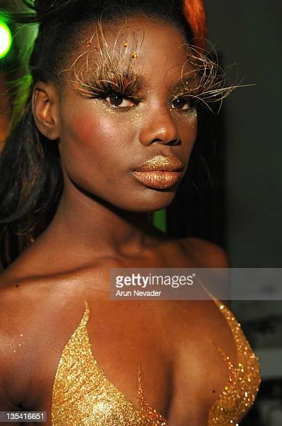 Model backstage at Smashbox Cosmetics/Sephora Spring 2006