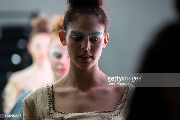 A Model Backstage During The University Of East London Show At News Photo Getty Images