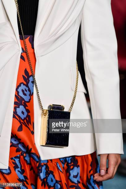 A model bag detail walks the runway at the Carolina Herrera fashion show during New York Fashion Week on February 11 2019 in New York City