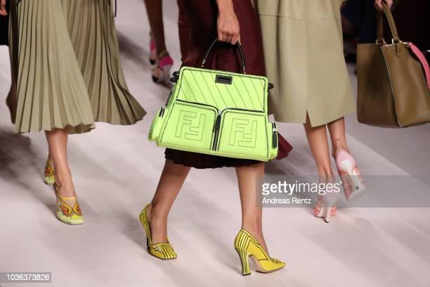 A model bag detail walks the runway at the Fendi show during Milan Fashion Week Spring/Summer 2019 on September 20 2018 in Milan Italy