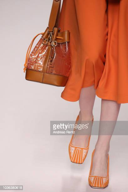 A model bag detail walks the runway at the Fendi show during Milan Fashion Week Spring/Summer 2019 on September 20 2018 in Milan Italy