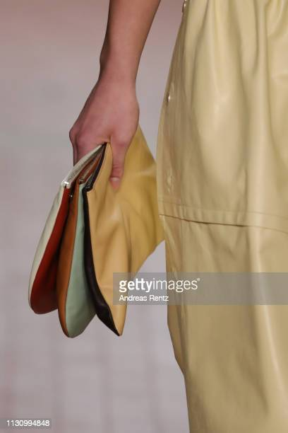 A model bag detail walks the runway at the Jil Sander show at Milan Fashion Week Autumn/Winter 2019/20 on February 20 2019 in Milan Italy