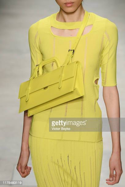A model bag detail walks the runway at the Marco Rambaldi show during the Milan Fashion Week Spring/Summer 2020 on September 18 2019 in Milan Italy