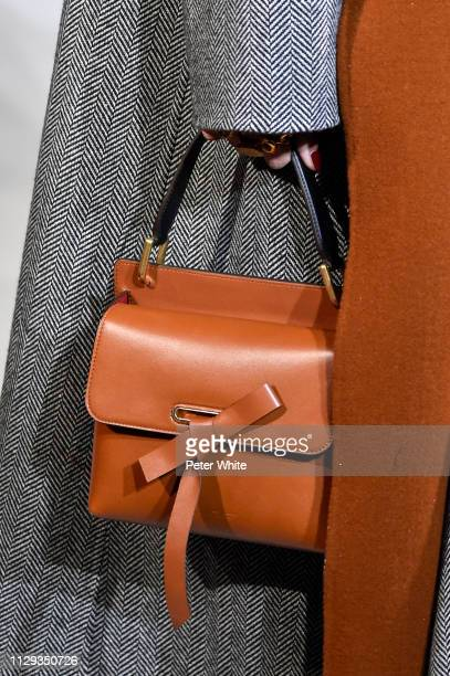 A model bag detail walks the runway at the Oscar de la Renta fashion show during New York Fashion Week on February 12 2019 in New York City