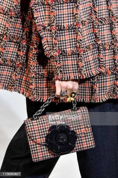 A model bag detail walks the runway at the Oscar de la Renta fashion show during New York Fashion Week on February 12 2019 in New York City