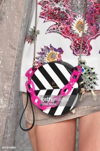 A model bag detail walks the runway at the Ozlem Suer show during MercedesBenz Istanbul Fashion Week September 2017 at Zorlu Center on September 15...