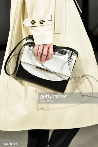 A model bag detail walks the runway at the Proenza Schouler fashion show during New York Fashion Week on February 11 2019 in New York City