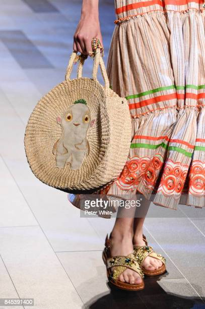 A model bag detail walks the runway at Vivienne Tam show during New York Fashion Week at Gallery 1 Skylight Clarkson Sq on September 10 2017 in New...