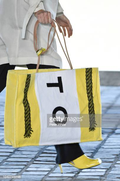 A model bag detail walks the runway during the Aalto show as part of the Paris Fashion Week Womenswear Spring/Summer 2019 on September 26 2018 in...