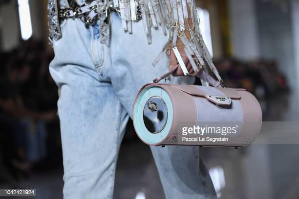 A model bag detail walks the runway during the Balmain show as part of the Paris Fashion Week Womenswear Spring/Summer 2019 on September 28 2018 in...