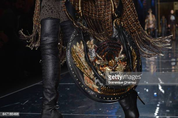 A model bag detail walks the runway during the Balmain show as part of the Paris Fashion Week Womenswear Fall/Winter 2017/2018 on March 2 2017 in...