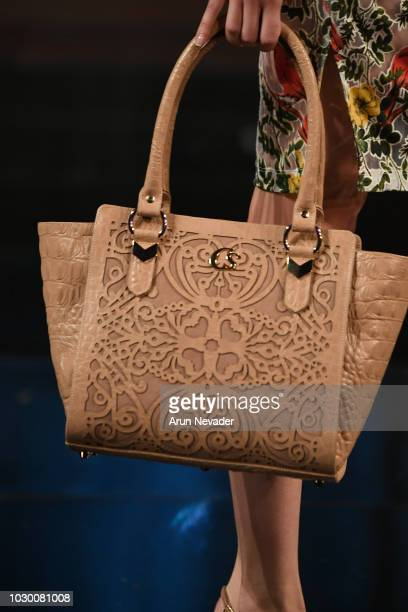 A Model Bag Detail Walks The Runway During Carmen Steffens Show At New York Fashion