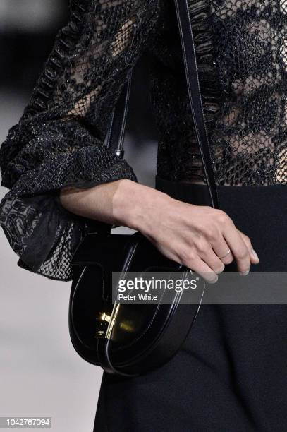 A model bag detail walks the runway during the Celine show as part of the Paris Fashion Week Womenswear Spring/Summer 2019 on September 28 2018 in...