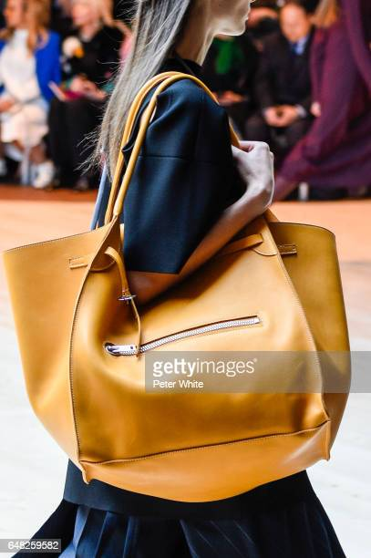 A model bag detail walks the runway during the Celine show as part of the Paris Fashion Week Womenswear Fall/Winter 2017/2018 on March 5 2017 in...