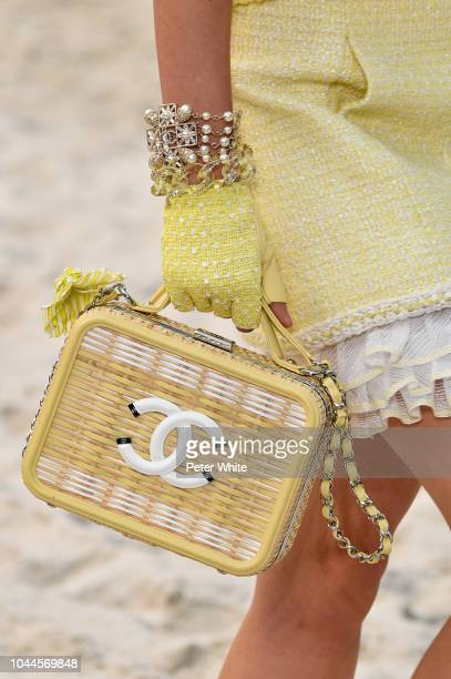 A model bag detail walks the runway during the Chanel show as part of the Paris Fashion Week Womenswear Spring/Summer 2019 on October 2 2018 in Paris...
