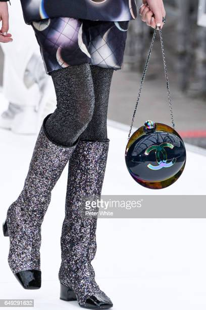 A model bag detail walks the runway during the Chanel show as part of the Paris Fashion Week Womenswear Fall/Winter 2017/2018 on March 7 2017 in...
