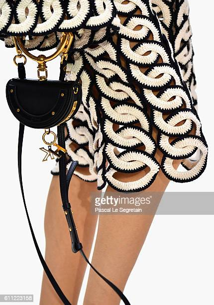 A model bag detail walks the runway during the Chloe show as part of the Paris Fashion Week Womenswear Spring/Summer 2017 on September 29 2016 in...