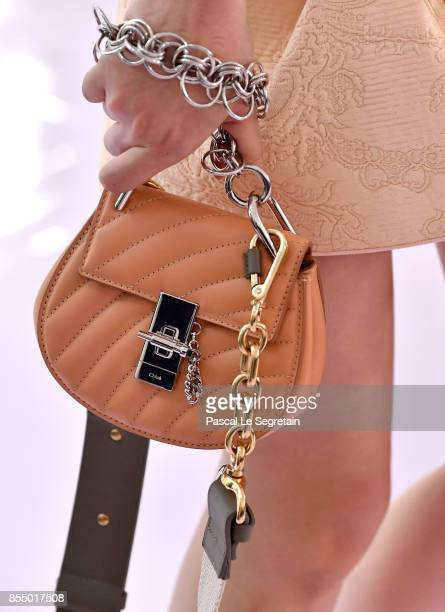 A model bag detail walks the runway during the Chloe show as part of the Paris Fashion Week Womenswear Spring/Summer 2018 on September 28 2017 in...