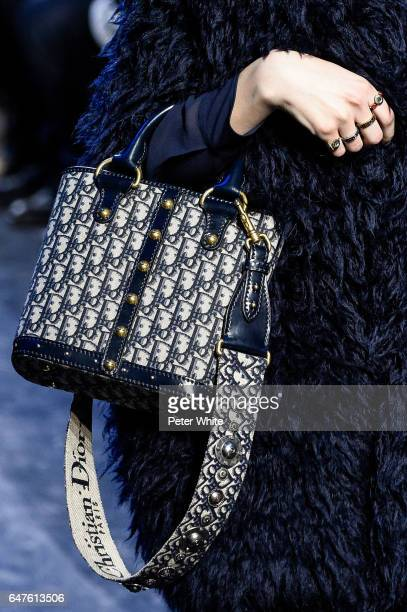 A model bag detail walks the runway during the Christian Dior show as part of the Paris Fashion Week Womenswear Fall/Winter 2017/2018 on March 3 2017...