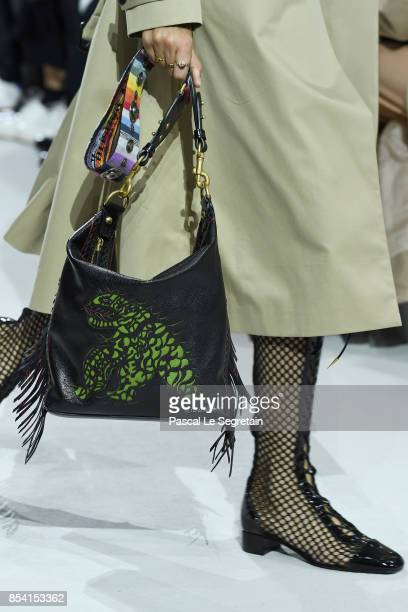 A model bag detail walks the runway during the Christian Dior show as part of the Paris Fashion Week Womenswear Spring/Summer 2018 on September 26...