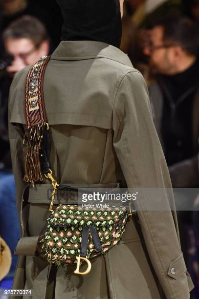 A model bag detail walks the runway during the Christian Dior show as part of the Paris Fashion Week Womenswear Fall/Winter 2018/2019 on February 27...