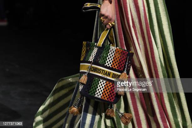 Model, bag detail, walks the runway during the Dior Womenswear Spring/Summer 2021 show as part of Paris Fashion Week on September 29, 2020 in Paris,...